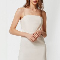UO Colette Stretch Linen Mini Dress   Urban Outfitters