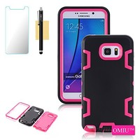 SAMSUNG GALAXY NOTE 5 Case, [NakedShield] [Black/Hot Pink] Heavy Duty Holster Armor Tough Case + [Screen Protector] - [Zebra Stripes] for SAMSUNG GALAXY NOTE 5