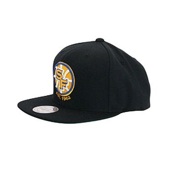 Mitchell N Ness San Francisco Golden State Warriors Black Sf Snapback Hat Cap