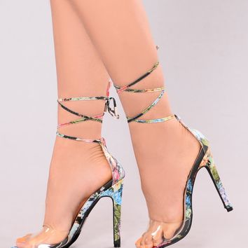 GiGi Clear Toe Heel - Multi