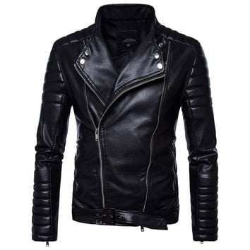 Trendy Herobiker Motorcycle Jackets Men PU Leather Jacket Vintage Retro Racing Zipper Biker Punk Classical Coats Windproof Moto Jacket AT_94_13