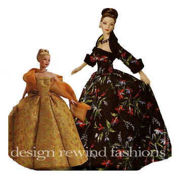 "Tyler Wentworth 16"" Doll Evening Gown Clothes - Strapless Gown, Shrug, Shawl, Petticoat - McCalls 3702 UNCUT Craft Sewing Pattern"