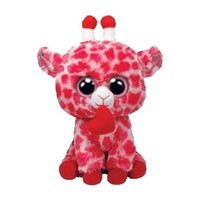 TY Beanie Boos - JUNGLELOVE the Pink Giraffe (Solid Eye Color) (Medium Size - 9 inch)