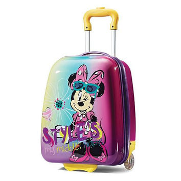 """Minnie Mouse 18"""" ABS Hard Shell Rolling Wheeled Luggage Suitcase"""