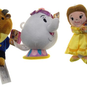 Disney Beauty & The Beast Set of 3 Figurine Dolls Belle Beast Mrs Potts Teapot