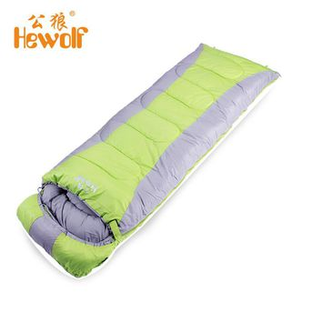 Hewolf Adult Thickened Rectangular Couples Camping Indoor Siesta Spring And Winter Light Checked Cloth Sleeping Bag Hot sale