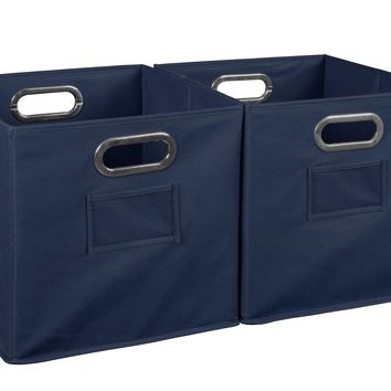 Niche Cubo Set of 2 Foldable Fabric Storage Bins- Blue