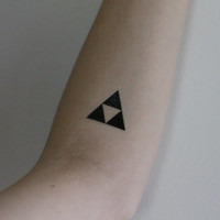 Triforce Temporary Tattoo
