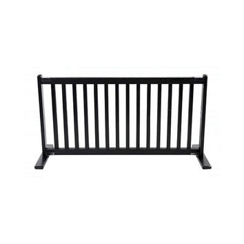 Dynamic Accents Free Standing Wooden Expandable Pet Gate - Large / Black