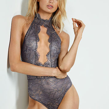 High-Neck Lace Teddy - Very Sexy - Victoria's Secret