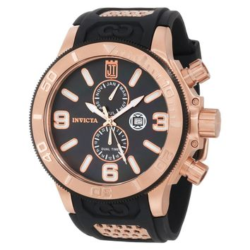 Invicta 13689 Men's Jason Taylor Corduba Black MOP Dial Rubber Strap Dive Watch