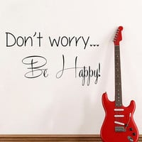 Family Wall Decal Quote Don't Worry Be Happy Art Mural Vinyl Stickers Bedroom Bohemian Decor Living Room Design Interior Birthday Gifts KI75