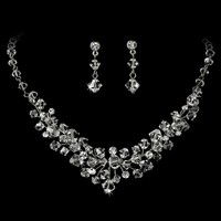 Classic Silver Plated Crystal Bridal Jewelry Set