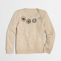 Factory girls' multicolor jewel popover : wool-blend sweaters | J.Crew Factory
