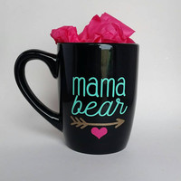 Mama Bear coffee mug // Tea cup // Heart and arrow // Cubs