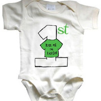 Babys First St. Patrick's Day Organic Onesuit