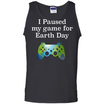 Earth Day 2018 Boys Kids Shirts Paused Game for Gift Idea Tank Top