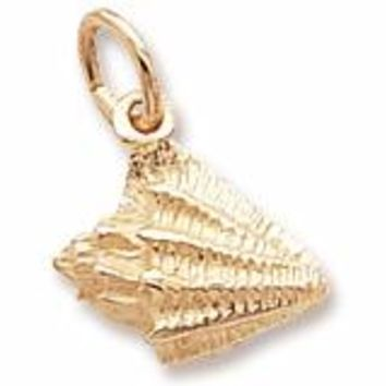 Conch Shell Charm in Yellow Gold Plated