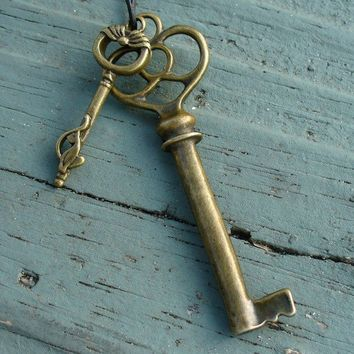 Key to your Heart Necklace in AntiqueLove