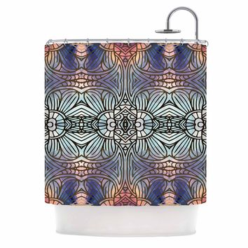 "Art Love Passion ""Tiffany"" Multicolor Blue Digital Shower Curtain"