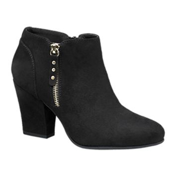 Chunky Ankle Boots with Zip in Black | Deichmann