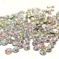 Crystal AB Round Rhinestone 3mm (10ss) 3D Acrylic Nail Art Decoration Cellphone Case USA SELLER! FAST SHIPPING! 2 butterfly charms included-800pcs