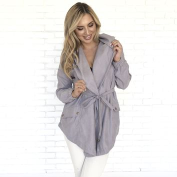 Always Ready Grey Rain Coat
