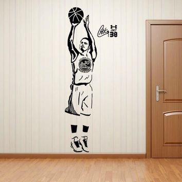 For Jermyn star poster wallpaper warriors of golden state stephen curry basketball diy wall stickers wall decoration christmas