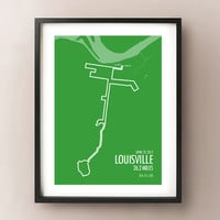 Louisville Kentucky Derby Marathon Print 2015