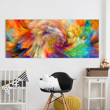 HDARTISAN Wall Art Abstract Painting Amount of Color Pattern Prints Home Decor Canvas Picture For Living Room No Frame