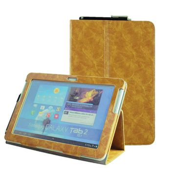 Tab 2 10.1 (2012 old model) P5100 Folio pu leather book cover flip case for Samsung Galaxy Tab 2 GT P5110 P5113 Tablet