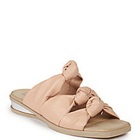 Stella McCartney - Faux Leather Knotted Slide Sandals - Saks Fifth Avenue Mobile