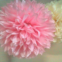 Paper pom poms...Pinkalicious party... Set of 12 poms