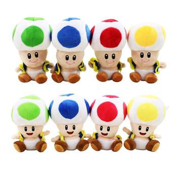12'' Super Mario Mushroom Plush Hat Caps Cosplay Hat Stuffed Plush Toys Cap