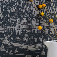 Bold & Noble Wallpaper Province - Graphite at BODIE and FOU — Bodie and Fou - Award-winning inspiring concept store