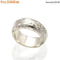 Mens 925 sterling silver wide wedding band ring - Men's Wedding band ring
