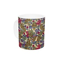 "Kess InHouse Julia Grifol ""My Boobooks Owls"" Ceramic Coffee Mug, 11 oz, Multicolor"