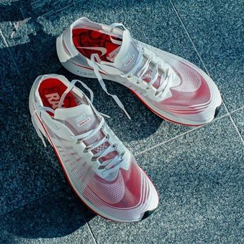 "Nike Lab Zoom Fly SP ""White&Red"" Running Shoes AJ3172-100"