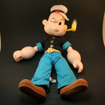 Vintage Popeye the Sailor Man Doll - 1985