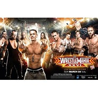Wrestlemania Xxvi 26 poster Metal Sign Wall Art 8in x 12in