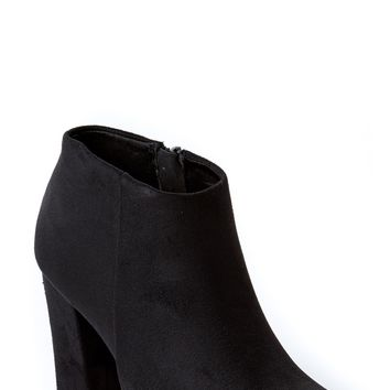 Higher Standards Black High Heel Ankle Boots