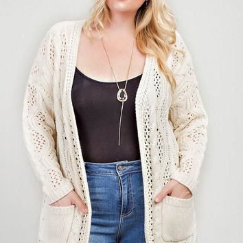 Good Tidings Cardigan + Cream