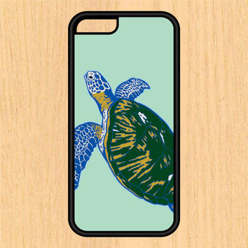 Turtle SeaLife Abstract Art Phone Case iPhone 4/4S 5/5C 6/6+ Case and Samsung Galaxy S3/S4/S5