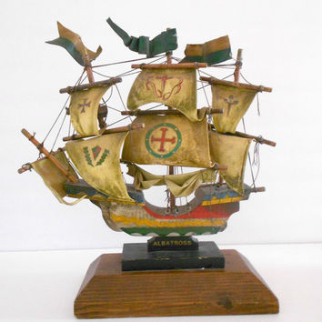 Vintage Sail Boat Albatross Pirate Ship Model