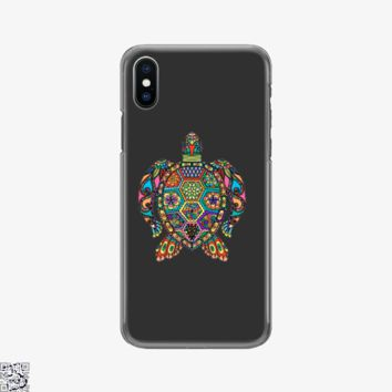 The Colorful Turtle, Sea Turtles Phone Case