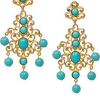 Kenneth Jay Lane 22-karat gold-plated drop earrings - 50% Off Now at THE OUTNET