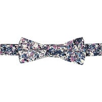 River Island MensWhite paint splash bow tie