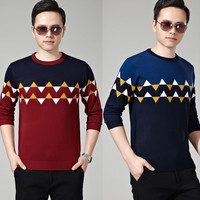 Red Graphic Knitted Sweater
