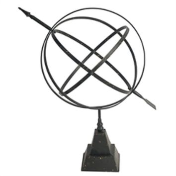 Alluring Metal Black Celestial Armillary Sphere Sculptural Accent-A and B Home