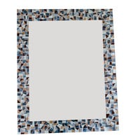 Gray and Brown Mosaic Wall Mirror, MADE TO ORDER